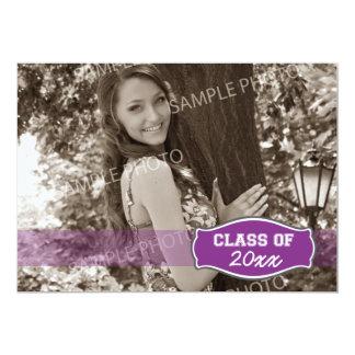 Simple Photo Graduation Announcement (purple)