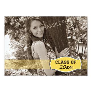 Simple Photo Graduation Announcement (yellow)