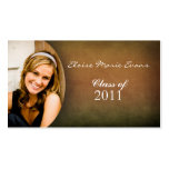Simple photo Graduation Rep card Double-Sided Standard Business Cards (Pack Of 100)