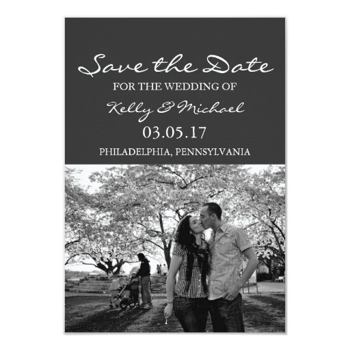 Simple Photo Save the Date Announcement