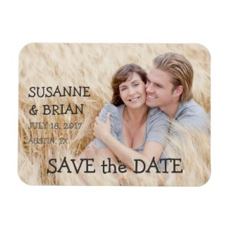 SIMPLE PHOTO SAVE THE DATE | COUNTRY VINYL MAGNET