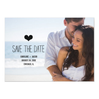 Simple Photo Save the Date 5x7 Paper Invitation Card