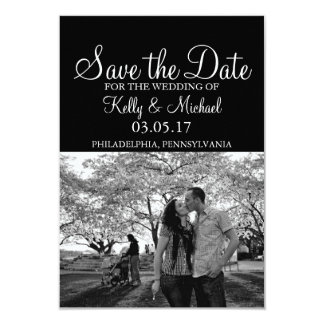 """Simple Photo Save the Date 3.5"""" X 5"""" Invitation Card"""