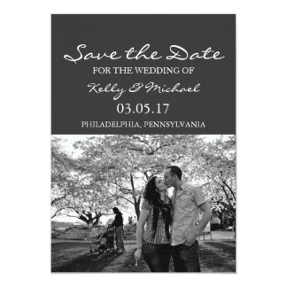 """Simple Photo Save the Date 5"""" X 7"""" Invitation Card"""