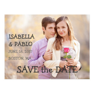 SIMPLE PHOTO SAVE THE DATE | VINTAGE POST CARDS