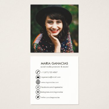 Professional Business Simple Photo Social Media Business Card