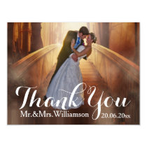 Simple Photo Wedding Thank You Invitation
