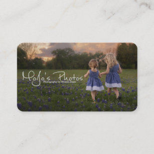 Watermark business cards templates zazzle simple photography with watermark business card colourmoves