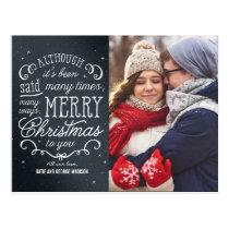 Simple Phrase Editable Color Holiday Photo Card