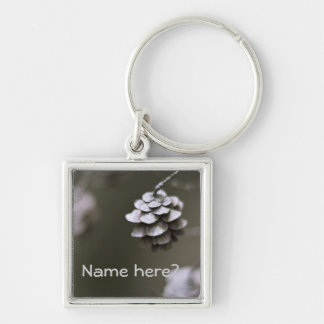 Simple pine cone nature photography closeup keychain