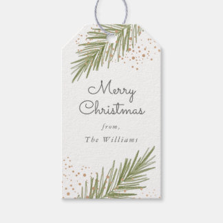 Simple Pines, Christmas Gift Tag