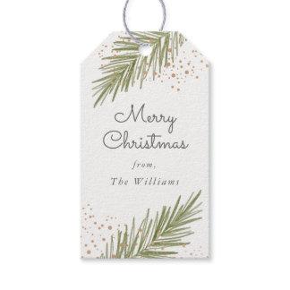 Simple Pines, Christmas Gift Tag