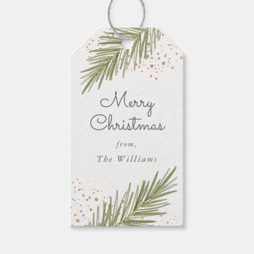 Simple Pines Christmas Gift Tag