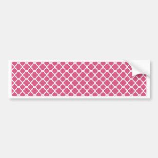 Simple Pink and White Quatrefoil Bumper Sticker