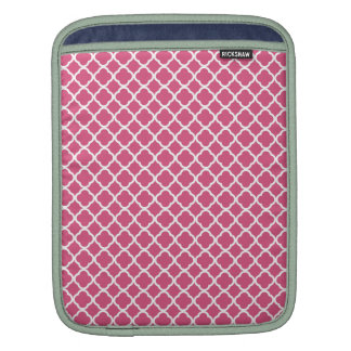Simple Pink and White Quatrefoil iPad Sleeves