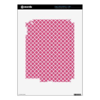Simple Pink and White Quatrefoil iPad 2 Skins