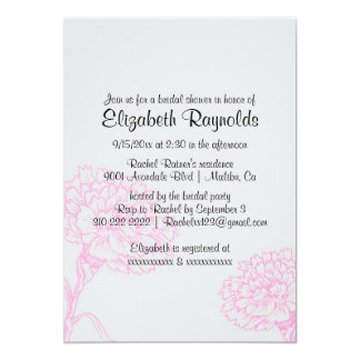 Simple Pink & Black Bridal Shower Invitations Announcements