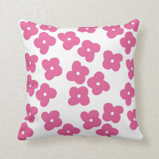 Simple Pink Blossoms Throw Pillow