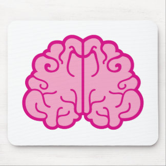 simple pink brains mouse pad