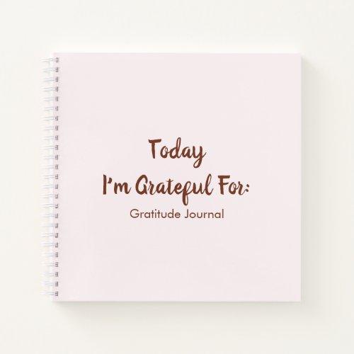 Simple Pink & Burgundy Gratitude Notebook
