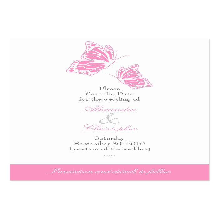 Top result 60 new save the date email templates free gallery 2017 simple pink butterfly save the date wedding mini business card rff5cb051d7e54039896a263ad7a889c8 xwjeg 8byvr 700 top result cheaphphosting Images