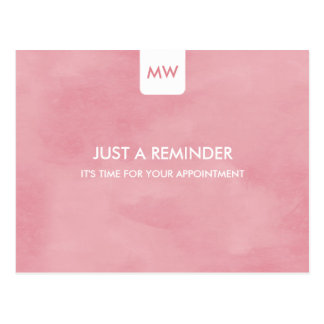 Simple Pink Chic Appointment Reminder QR Code Post Cards