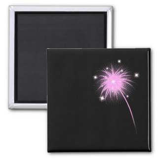 Simple Pink Firework - by request Fridge Magnet
