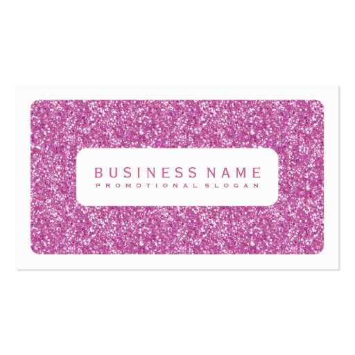 Simple Pink Glitter Business Card