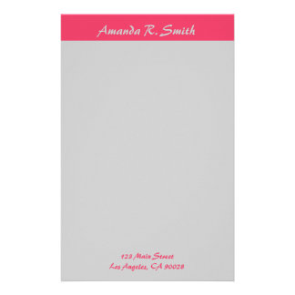 Simple Pink grey Stationery