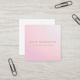 Esthetician business cards zazzle simple pink lavender ombre esthetician square square business card colourmoves