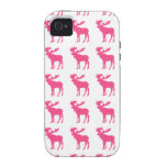 Simple pink moose symbol iPhone 4 covers