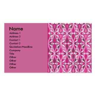 simple_pink, nombre, dirección 1, dirección 2, Con Tarjetas De Negocios