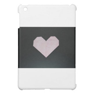 simple pink origami heart cover for the iPad mini