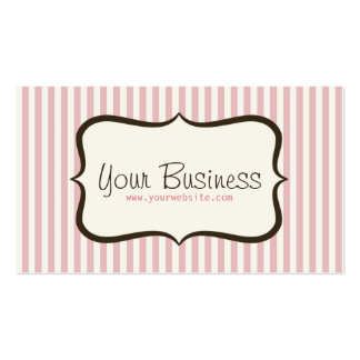 Simple Pink Stripe Business Card
