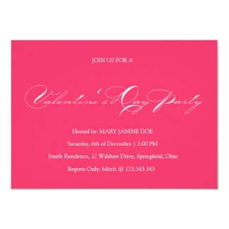Simple Pink Valentine's Day Party Invitation