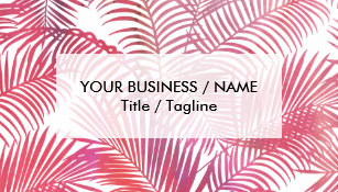 Palm tree business cards zazzle simple pink watercolor modern tropical palm tree business card colourmoves