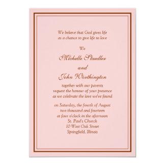 Simple Pink Wedding Invitation Template