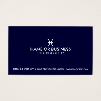 simple pisces business card