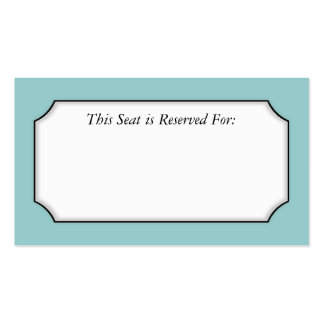 Simple Place Card Double-Sided Standard Business Cards (Pack Of 100)