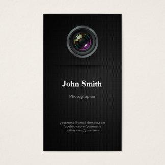 Simple Plain Black - Photographer Cinematographer Business Card