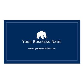 Simple Plain Blue Elephant Business card