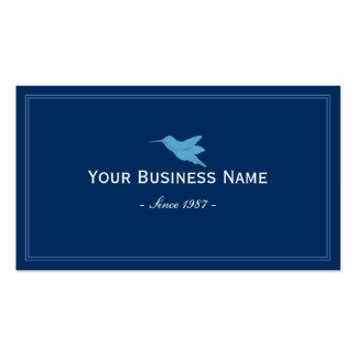 Simple Plain Blue Hummingbird Business card