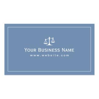 Simple Plain Blue Law Office Business card
