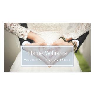 simple plain blue modern photography Business Card