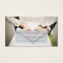 simple plain blue modern photography Business Card
