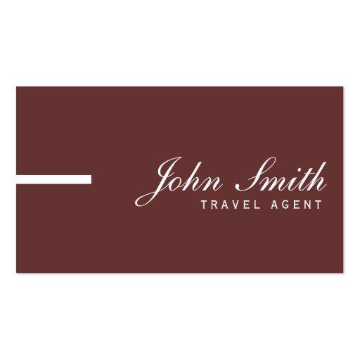 Simple Plain Brown Travel Agent Business Card