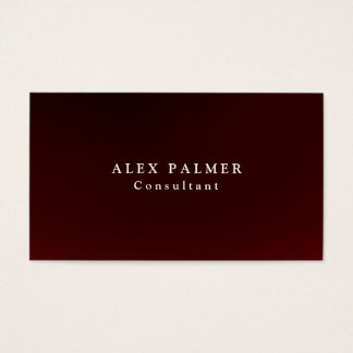 Simple Plain Brownish Red Background Original Business Card