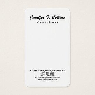 Simple Plain Brush Script Minimalist Modern Business Card