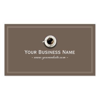 Simple Plain Coffee Shop Business Card