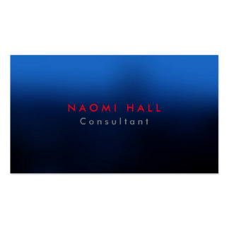 Simple Plain Elegant Blue Red Minimalist Business Card